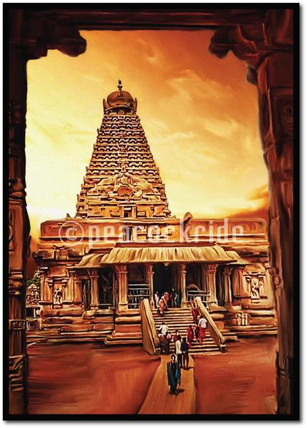 Tanjore I Thanjavur Big Temple- The Architectural wonder Wall Poster/Frame