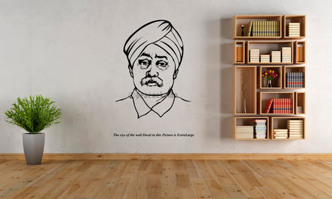 Lala Lajpat Rai , The Lion of Punjab  ,Wall Decal, LAL