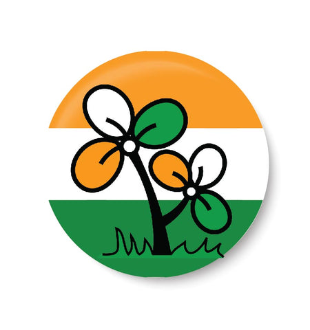 Vote for your Party I All India Trinamool Congress , AITC  Party, AITC,  Pin Badge,  Political Badge