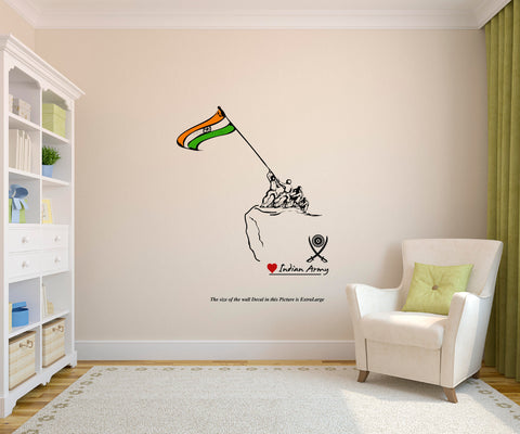 Love Indian Army Wall Decal