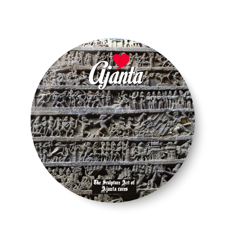 Love Ajanta Fridge Magnet