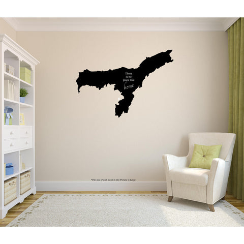 Assam,Assam Sticker,Assam Wall Sticker,Assam Wall Decal,Assam Decal