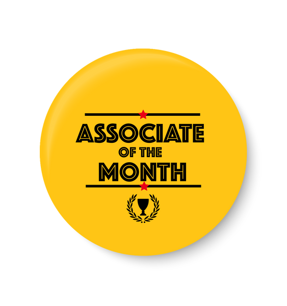 Associate of the Month, Office Pin Badge