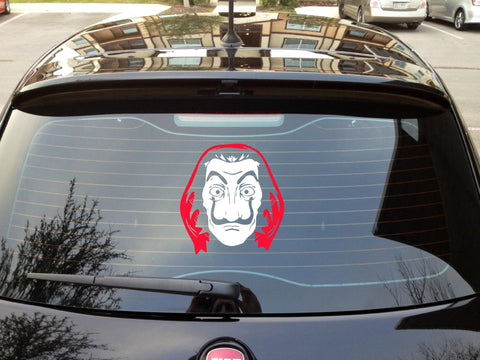 Money Heist I La casa de Papel I Bella ciao I Car Window Decal