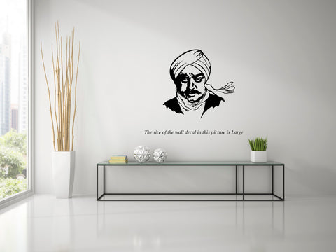 Kamalhassan As Bharathiyar ,Kamalhassan As Bharathiyar  Sticker,Kamalhassan As Bharathiyar  Wall Sticker,Kamalhassan As Bharathiyar  Wall Decal,Kamalhassan As Bharathiyar  Decal