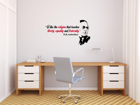 Dr Babasaheb Ambedkar Quote I I LIKE THE RELIGION 2.0,I 	Dr Babasaheb Ambedkar Quote I I LIKE THE RELIGION 2.0 I  Sticker,Dr Babasaheb Ambedkar Quote I I LIKE THE RELIGION 2.0 I  Wall Sticker,Dr Babasaheb Ambedkar Quote I I LIKE THE RELIGION 2.0 I  Wall Decal,Dr Babasaheb Ambedkar Quote I I LIKE THE RELIGION 2.0 I  Decal