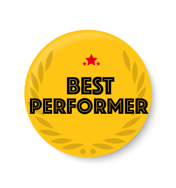 Best Performer Pin Badge