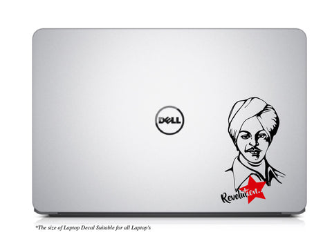 Bhagat Singh Laptop Decal