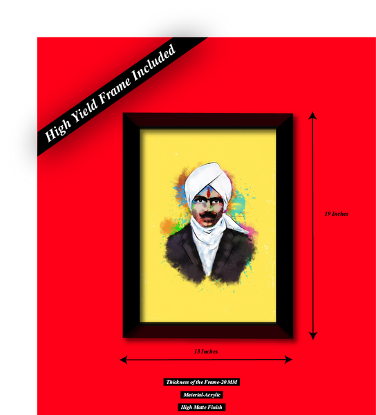 Legendary Bharathiyar Wall Poster And Frame