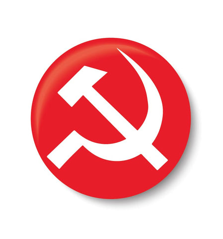 Vote for your Party I  Communist  , CPI Party , Pin Badge, CPI, BADGE ,political , political badge