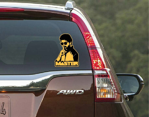 vijay car decal, master car decal, vijay