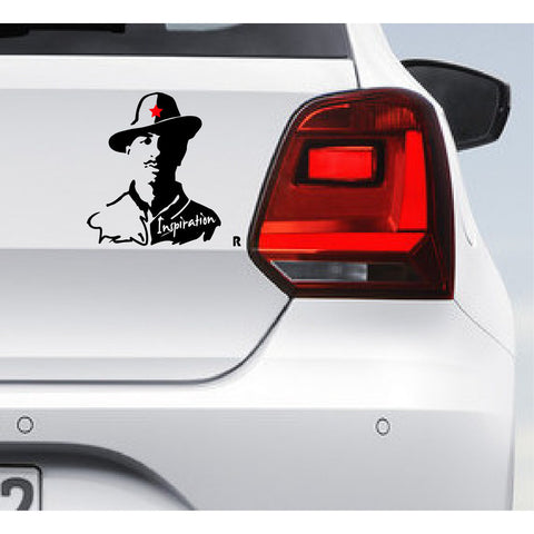 Bhagat Singh-Car bumper Decal