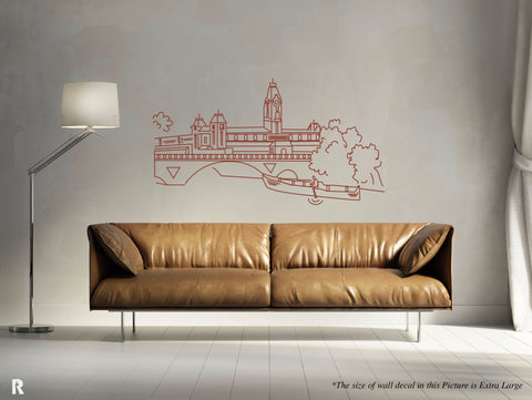 Madras Central Vintage Art Decal,Madras, Chennai, Chennai Central, Madras Central,Chennai Wall Sticker,Chennai Wall Decal,I Love Chennai Sticker,I Love Chennai Wall Sticker,Home Love Chennai Sticker,Home Love Chennai Wall Sticker