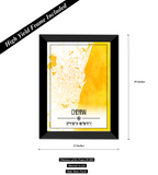 Chennai Map Wall Poster / Frame