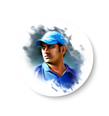 MS Dhoni Fridge Magnet