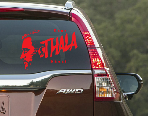 Enga THALA Dhoni !- Car Window Decal