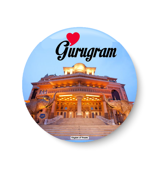 Love Gurugram Fridge Magnet