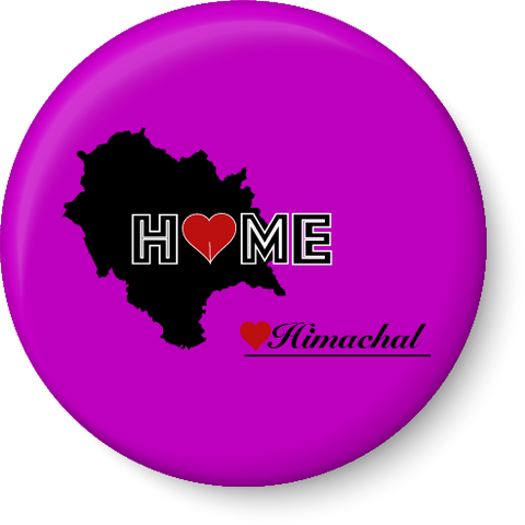 Himachal Pradesh Home Love Fridge Magnet