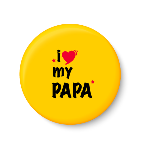 I love my PAPA I Fathers Day Gift I My DAD I Fridge Magnet