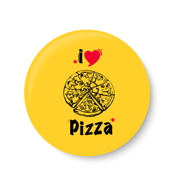 I love Pizza Pin Badge