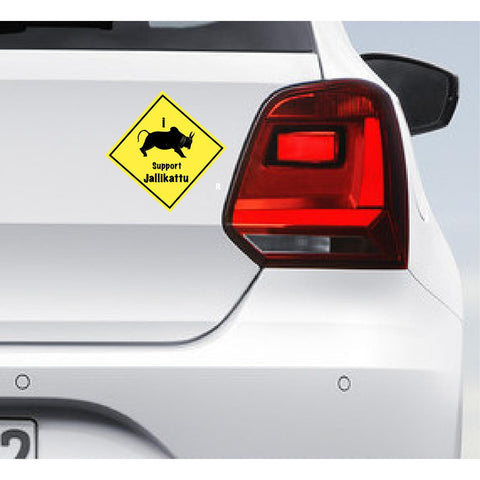 I Support Jallikattu Car Bumper Decal