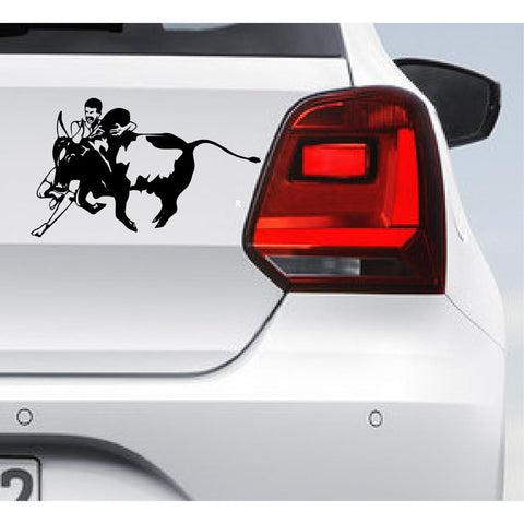 Jallikattu,Jallikattu Car Decal,Jallikattu Car Sticker,Bull Sticker,Bull Bumper Sticker,Jallikattu Sticker