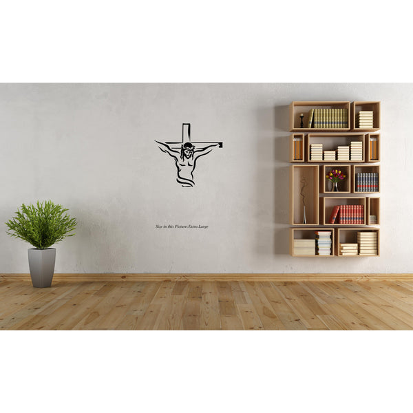 """Jesus Christ on the cross"" Line art Wall Decal"