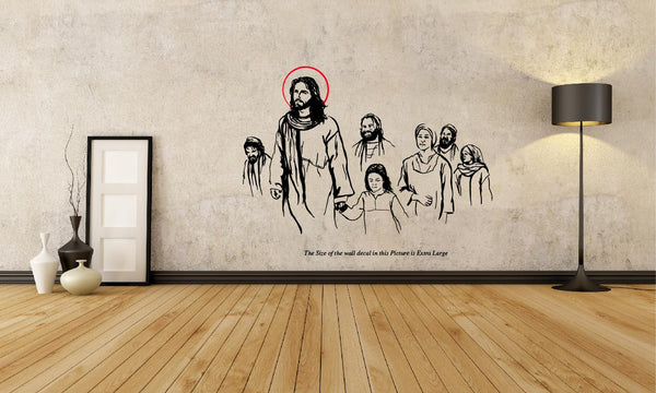 The Jesus Christ with the People ,The Jesus Christ with the People  Sticker,The Jesus Christ with the People  Wall Sticker,The Jesus Christ with the People  Wall Decal,The Jesus Christ with the People  Decal