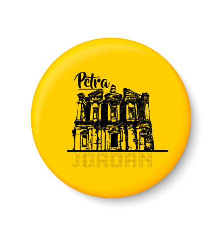 Petra ,Jordan , World Landmarks .Fridge Magnet