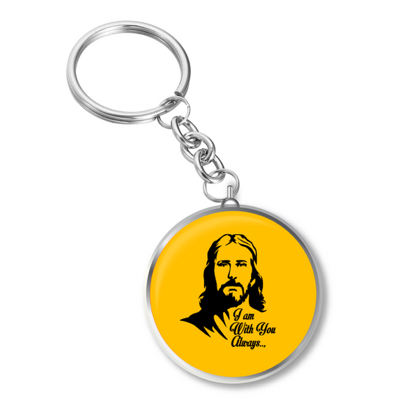 Jesus Christ Always with You Key Chain, Jesus Key Chain, jesus