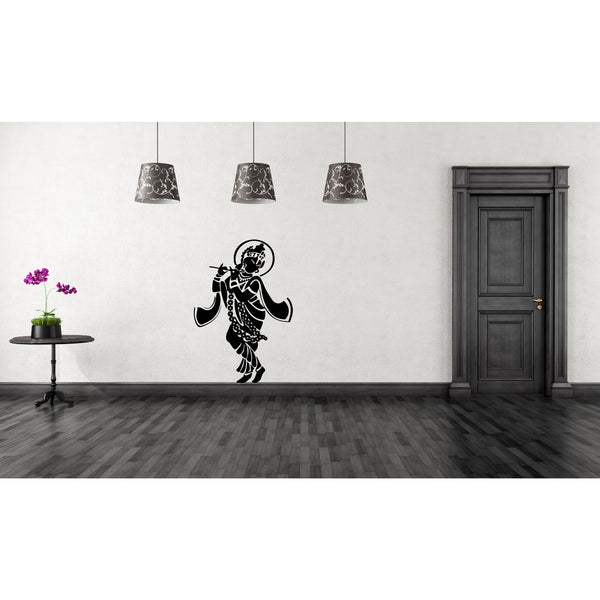 Krishna With Flute Wall Decal