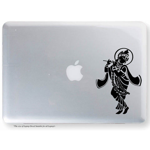 Krishna Sticker,Krishna Decal,Krishna With Flute Sticker,Krishna With Flute Decal,Krishna Laptop Sticker,Krishna Laptop Decal