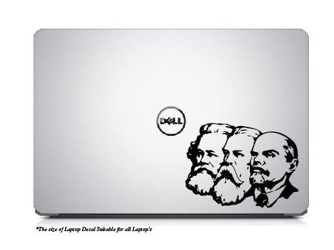 Karl Mark , Friedrich Engles , Vladimir Lenin`s ,Laptop Decal