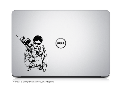 Pawan Kalyan Laptop/Mac Book Decal, Pawan Kalyan Decal
