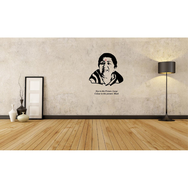 Lata Mangeshkar-The Nightingale Of India ,Lata Mangeshkar-The Nightingale Of India  Sticker,Lata Mangeshkar-The Nightingale Of India  Wall Sticker,Lata Mangeshkar-The Nightingale Of India  Wall Decal	,Lata Mangeshkar-The Nightingale Of India  Decal