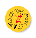Made with love Pin Badge