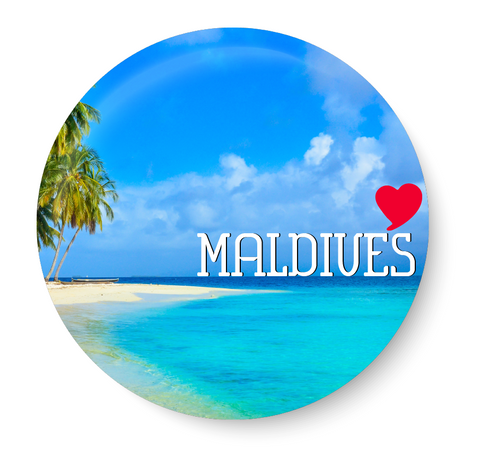 Love Maldives  Souvenir l Travel I Pin Badge