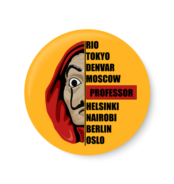 Money Heist I La casa de papel , Bella ciao , Professor , Fridge Magnet
