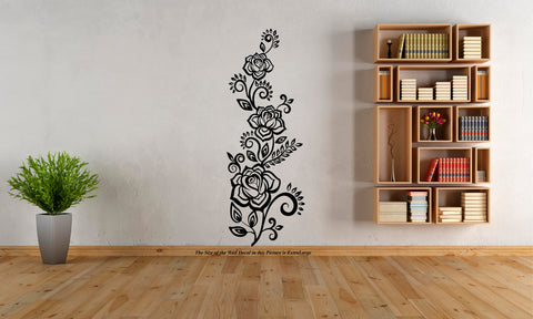 Natural Flower, flower ,wall decal