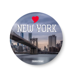 Love New York ,Brooklyn Bridge , New York Fridge Magnet, New York