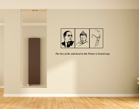 Periyar-Dr.Ambedkar-Lord Buddha Wall Decal