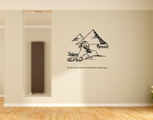 Pyramid ,Sphinx ,Egypt Wall Decal, egypt, wall sticker