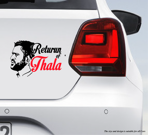 MS Dhoni-Return Of Thala as Car Bumper Decal