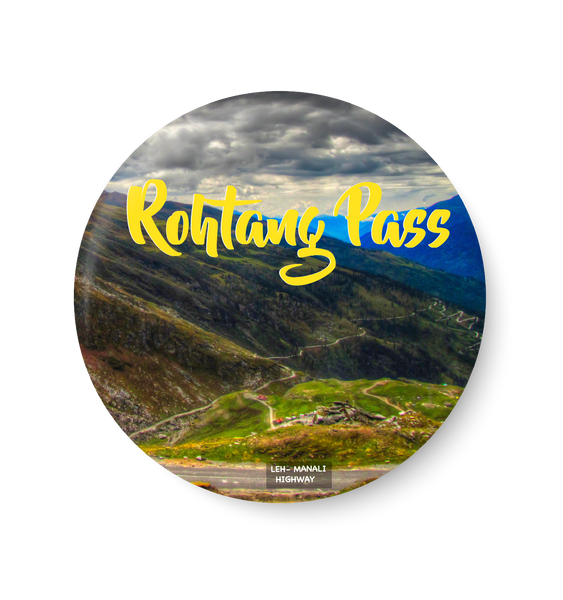 Rohtang Pass I Leh - Manali Highway Fridge Magnet, leh Fridge Magnet