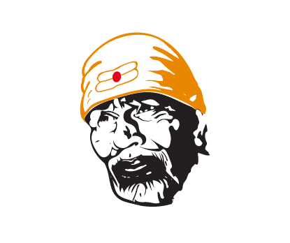 Sai Baba Bike Decal, Sai Baba