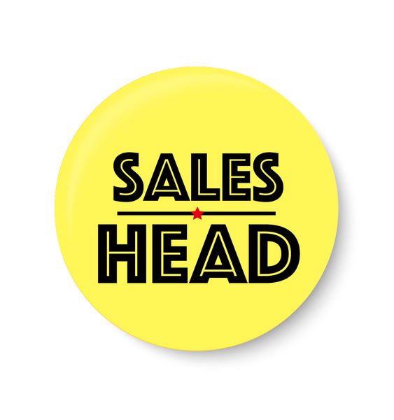 Sales Head ,Office Pin Badge