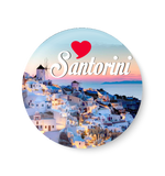 Love Santorini Fridge Magnet