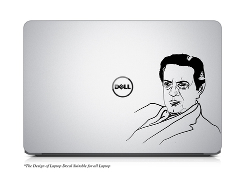 Satyajit Ray,Satyajit Ray Laptop Decal,Satyajit Ray Laptop Saticker,Satyajit Ray Sticker