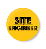 Site Engineer , Office Pin Badge