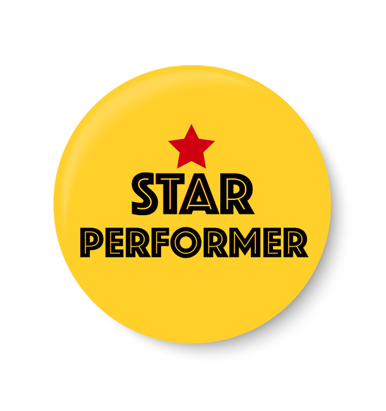 Star Performer,Star Performer Pin Badge , Complement Pin Badge